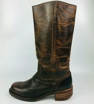 FRYE Women's Campus 14L DBN77050 Brown Distressed Leather Riding Boots S... - $168.29