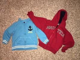 Carters Zip Front Sweatshirt Boys 9m Blue Captain Adorable Nautica Hoodi... - $8.53