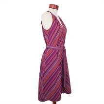 Stripe Sleeveless Cotton Summer Purple Dress A New Day Size XXL - $13.75