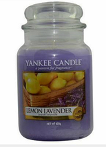 Yankee Candle Lemon Lavender 22 oz Scent Glass Jar, citrus floral, flower - $28.49