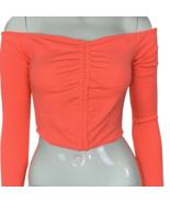 Fashion Nova Crop Shirt Size Small Bright Color Off Shoulder Top - $19.99