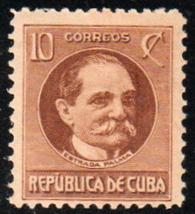 1917-18 Cuba Stamps Sc 270 President Tomas Estrada Palma  NEW - $3.99