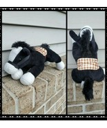 Prextex Plush Black Horse Stuffed Animal 11 Inch Toy Kids Gift - $17.72