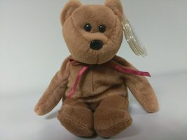 1st Edition TY Beanie Babies Rare Teddy no stamp, PVC and style line image 5