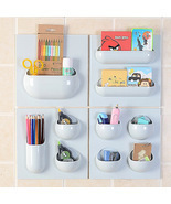 ABS Bathroom Storage Box Cosmetics Stickup Organizer Home Kitchen - Ligh... - $9.99