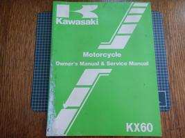 1986 86 Kawasaki KX60 KX60-B2 Kx 60 KX60B2 Owner's Owner Service Manual #9 - $9.94