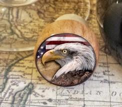 Eagle Wine Stopper, Handmade Eagle and American Flag Wood Cork Bottle St... - $8.86