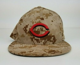 Cincinnati Reds New Era 59FIFTY Camo Baseball MLB Memorial Fitted Hat Cap 7 3/4 - £10.02 GBP
