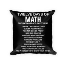 Math pillow - Square Pillow Case w/ stuffing - $23.00
