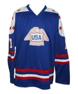 Custom Name # Team USA Canada Cup Hockey Jersey New Blue Lopresti #1 Any... - $54.99+