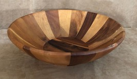 """16"""" Salad Serving Bowl by Vagabond House acacia wood striped large table... - ₨3,934.46 INR"""