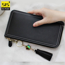 Fashion Leather Long Purse Lady Cell Phone Wallet Women iphone Large Capacity Zi - $27.22