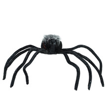 "Northlight 26"" Black and Orange Lighted Shaking Spider Halloween Decor  ... - $38.11"