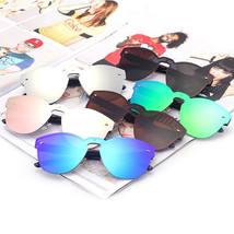 Women Sunglasses Frame Fashion Glasses Spectacle Lenses Mirror Oversize Round - $14.82