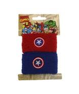 Superhero Captain America Double Cuff Sweat Bands Pony Tail Wraps 1028 - $12.86