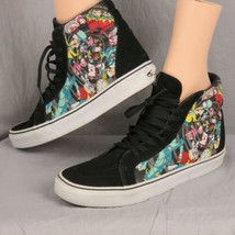 Vans Disney Alice In Wonderland Mad Hatter Hole Sk8-Hi Mens Skate Shoes ... - £83.87 GBP
