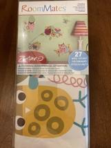 NIB Zutano Owl wall stickers 27 decals flowers nursery room decor birds flowers - $14.99