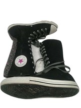 Converse All Star Canvas High Top Side Zip Up Sneakers Size 5 Girls - $20.79