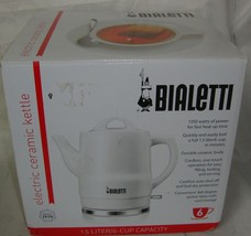 Bialetti Electric Cordless Ceramic Kettle 6-cup 1.5 LITER NEW - €28,73 EUR