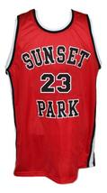 Busy-Bee #23 Sunset Park Movie Basketball Jersey New Sewn Red Any Size image 3