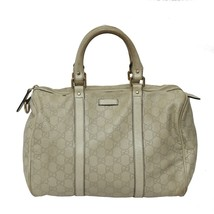 Authentic GUCCI White GG Leather Joy Boston Bag MSRP 2400$ - $317.89
