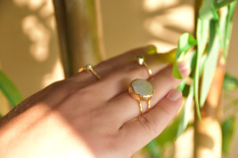Pearl Ring, White Pearl Adjustable Ring, Freshwater Pearl, Baroque Pearl... - $61.00