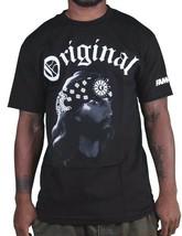 Famous Stars & Straps Nero da Uomo Gangsta Gesù Og T-Shirt FM03140062 Nwt