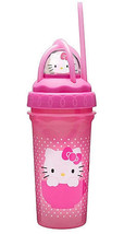 HELLO KITTY-CURLEY STRAW CUP - $5.95