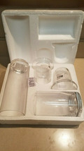Yankee Candle Set of 2 Clear Glass Cylinder Votive Candleholders (NEW) - $49.45