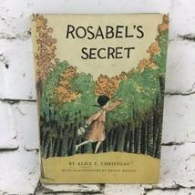 Rosabel's Secret By Alice E. Christgau Illustrated Hardback Exlibrary VT... - $19.79