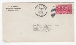 H.S. REED REAL ESTATE AND RENTALS REDMOND WASHINGTON MARCH 14 1930  - $1.98