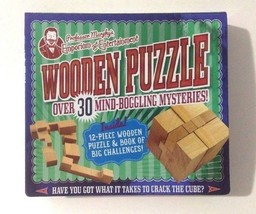 Professor Murphys Emporium of Entertainment Wooden Puzzle and Book of Ch... - $21.77
