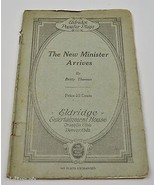 The New Minister Arrives One Act Play Script Antique1923 Theater Collect... - $24.99
