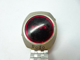 Rado Red Led Digital Vintage Rado Swiss Watch For Restoration Or Parts Only - $153.84