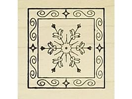 Snowflake Rubber Stamps, Set of 2