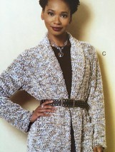 Butterick Sewing Pattern 6251 Misses Sweater Jacket Coat Size XS-M 4-14 New - $17.46