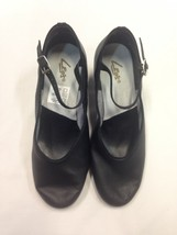 Leo's 6108 Women's Black Size 6.5 M High Heel Leather Jazz Pump Characte... - $19.99