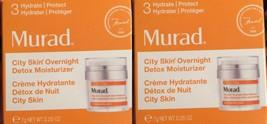 2 x Murad City Skin Overnight Detox Moisturizer 0.25oz New in Box x 2  - $11.87
