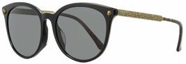 Gucci Cat Eye Sunglasses GG0224SK 001 Black/Antique Gold 56mm - $188.09