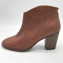 BP Nordstrom Womens Ankle Boots Brown Block Heel Side Zip Almond Toe 8.5 M New - $20.77