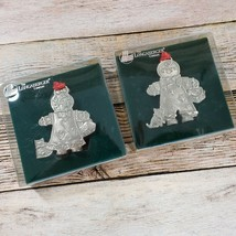 Longaberger Roger & Ginger Pewter Christmas Ornaments Gingerbread Origin... - $15.83