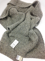 Ferruccio Vecchi Donegal Knit Scarf Grey One Size Made In Italy - $39.59