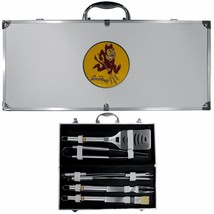 arizona state sun devils 8 pc tailgater stainless steel bbq set with met... - $126.34