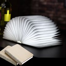Foldable Paper Book Wooden Lamp LED Book Light USB charging  - $59.90
