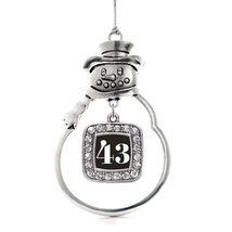 Inspired Silver Number 43 Classic Snowman Holiday Decoration Christmas Tree Orna - $14.69