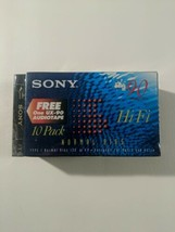 Brand New Factory Sealed Sony C-90HF 10 Pack Blank Cassettes 1 UX-90 Blank - $33.59