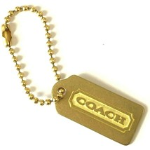 Vintage Coach Brass Charm Hangtag Gold Metal Etched  - $29.99