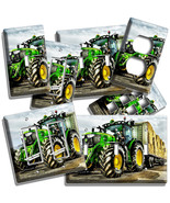 GREEN BIG WHEELS FARMER TRUCK TRACTOR LIGHT SWITCH WALL PLATES OUTLET HO... - $10.99+