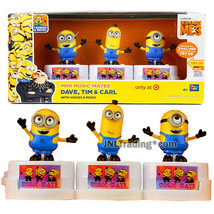 Despicable Me 3 Exclusive Mini Music-Mates Figure DAVE, TIM and CARL wit... - $49.99