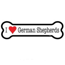 "I Heart (Love) German Shepherds Dog Bone Car Magnet  2""x7"" USA Made Wate... - $4.95"